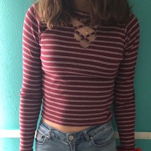 Red & white stripped Hollister shirt